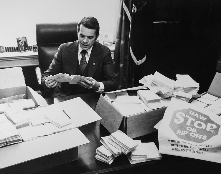 Rep. Dale Kildee, D-Mich., in his office. 1978 (Photo by CQ Roll Call via Getty Images)
