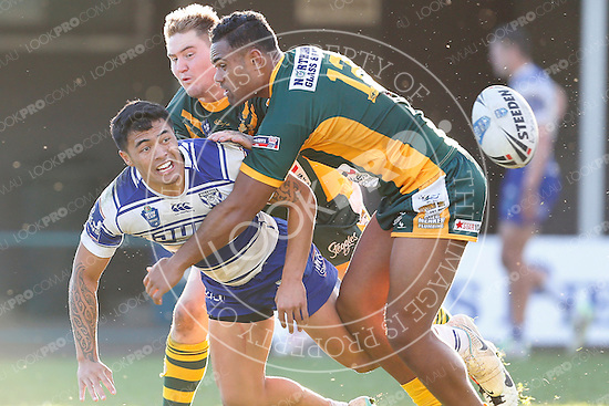The Wyong Roos play The Canterbury Bankstown Bulldogs in Round 22 of the VB NSW Cup at Morry Breen Oval on 10 August, 2014 in Kanwal, NSW Australia. (Photo by Paul Barkley/LookPro)