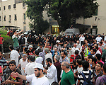 "Supporters of the Muslim Brotherhood attend a protest in support of ousted Egyptian President Mohamed Morsi near Nahda Square, where supporters of Egypt's ousted President Mohammed Morsi have installed their camp near Cairo University in Giza, southwestern Cairo, Egypt, Monday, Aug. 12, 2013. Egyptian authorities on Monday postponed a move to disperse two Cairo sit-ins by supporters of the country's ousted president to ""avoid bloodshed,"" an official said, as Islamist supporters stepped up rallies to demand his return to power. Photo by Ahmed Asad"