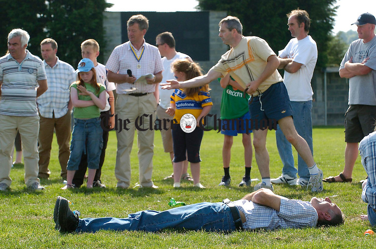 For some, the going was a little too much during the Peadar Clancy Festival Family Fun day. Photograph by John Kelly.