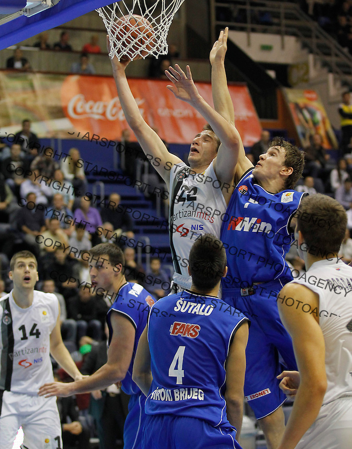 Kosarka ABA League season 2012-2013.Partizan Vs. Siroki.Marko Cakarevic and Ivan Ramljak right.Beograd, 14.10.2012..foto: Srdjan Stevanovic/Starsportphoto ©