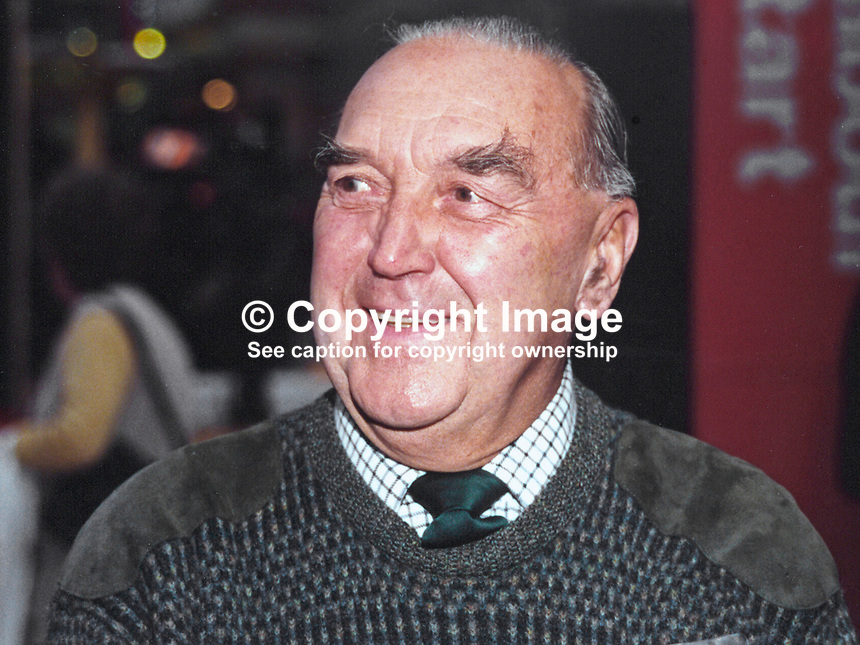 Lord Mason, Life Peer, Labour Party, UK, onetime MP, previously Roy Mason,Secretary of State for N Ireland, 19961010RM<br />