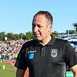 10.08.2019, Donaustadion, Ulm, GER, DFB Pokal, SSV Ulm 1846 Fussball vs 1. FC Heidenheim, <br /> DFL REGULATIONS PROHIBIT ANY USE OF PHOTOGRAPHS AS IMAGE SEQUENCES AND/OR QUASI-VIDEO, <br /> im Bild Holger Bachthaler (Ulm)<br /> <br /> Foto © nordphoto / Hafner
