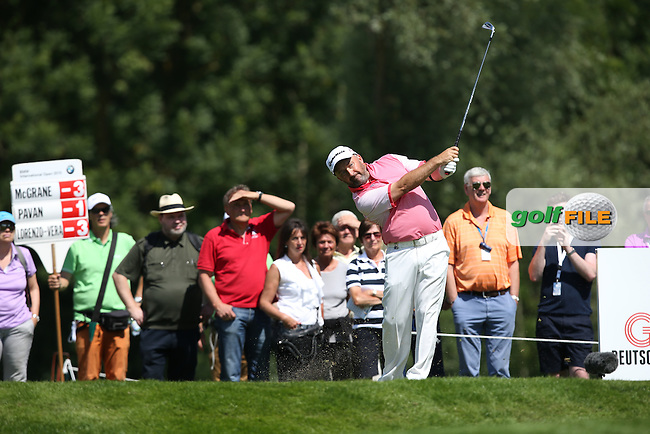 Damien McGrane (IRL) on the 12th tee during Round Two of the 2015 BMW International Open at Golfclub Munchen Eichenried, Eichenried, Munich, Germany. 26/06/2015. Picture David Lloyd | www.golffile.ie