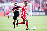 Bayern Munich Forward Kingsley Coman (R) in action during the 2017 International Champions Cup China  match between FC Bayern and AC Milan at Universiade Sports Centre Stadium on July 22, 2017 in Shenzhen, China. Photo by Marcio Rodrigo Machado / Power Sport Images