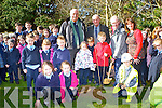 Currow NS Principal Margaret Hannafin with John McLoughlin from the Tree Council of Ireland,Terence O'Connell Tree Council of Ireland and Noel Lane The Forestry Company who donated trees to the school for the National Tree week on Tuesday