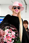 Lady Gaga poses for the cameras at Narita International Airport on November 1, 2016, Chiba, Japan. Gaga returns to Japan for the first time in two years to promote her latest album Joanne. (Photo by Rodrigo Reyes Marin/AFLO)