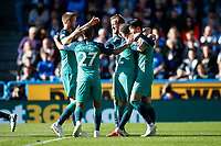 Harry Kane of Tottenham Hotspur celebrates after scoring his side's second goal to make the score 0-2 <br /> 29-09-2018 Premier League <br /> Huddersfield - Tottenham <br /> Foto PHC Images / Panoramic / Insidefoto <br /> ITALY ONLY