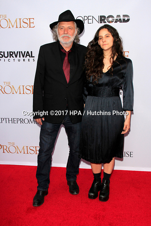 "LOS ANGELES - APR 12:  Rade Serbedzija, Nina Serbedzija at the ""The Promise"" Premiere at the TCL Chinese Theater IMAX on April 12, 2017 in Los Angeles, CA"