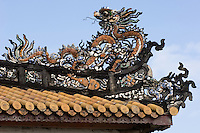 A roof detail at the Citadel in Hue.