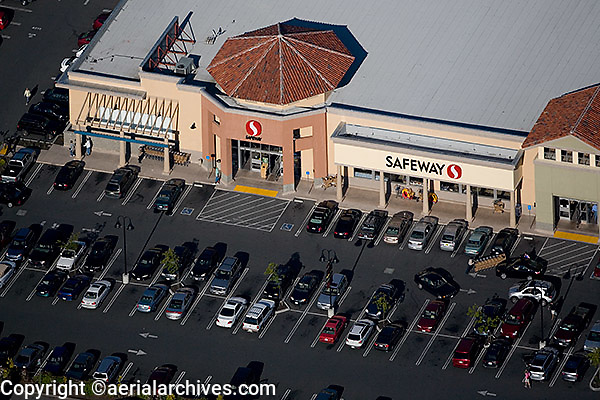 aerial photograph Safeway Marin County, California
