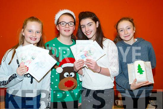 Ella O'Connor, Amy Nic Seoin, Iseult Ni Loingsigh, Aisling Ní Chathasaigh, pictured at Gaelscoil Mhic Easmainn Christmas Craft Fair on Sunday last.
