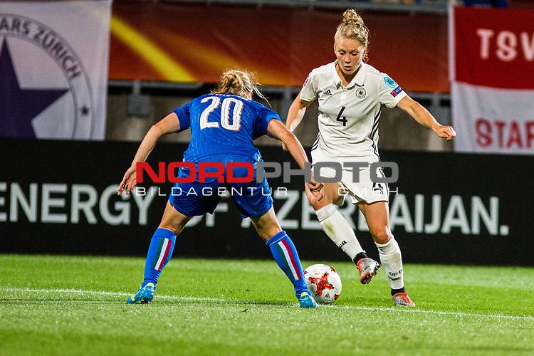 21.07.2017, Koenig Willem II Stadion , Tilburg, NLD, Tilburg, UEFA Women's Euro 2017, Deutschland (GER) vs Italien (ITA), <br /> <br /> im Bild | picture shows<br /> Leonie Maier (Deutschland #4) | (Germany #4) gegen Valentina Cernoia (Italien #20) | (Italy #20), <br /> <br /> Foto © nordphoto / Rauch