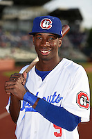 Chattanooga Lookouts second baseman Darnell Sweeney (9) poses for a photo before a game against the Birmingham Barons on April 24, 2014 at AT&T Field in Chattanooga, Tennessee.  Chattanooga defeated Birmingham 5-4.  (Mike Janes/Four Seam Images)