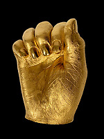 Gold casts of Nelson Mandela's hands have emerged for sale for £7.5million