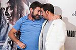 """Antonio de la Torre and Luis Callejo during the presentation of the spanish film """" Tarde para la Ira"""" at Cines Palafox in Madrid. September 06, Spain. 2016. (ALTERPHOTOS/BorjaB.Hojas)"""