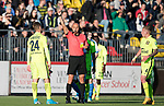 FK Trakai v St Johnstone&hellip;06.07.17&hellip; Europa League 1st Qualifying Round 2nd Leg, Vilnius, Lithuania.<br />Arunas Klimavicius is sent off after getting a second yellow card from referee Stanislav Todorov<br />Picture by Graeme Hart.<br />Copyright Perthshire Picture Agency<br />Tel: 01738 623350  Mobile: 07990 594431
