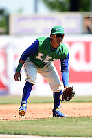 Lexington Legends third baseman Mauricio Ramos (3) during a game against the Hagerstown Suns on May 19, 2014 at Whitaker Bank Ballpark in Lexington, Kentucky.  Lexington defeated Hagerstown 10-8.  (Mike Janes/Four Seam Images)