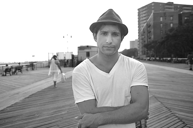 Adrian Kelly at Brighton Beach, Brooklyn, New York.