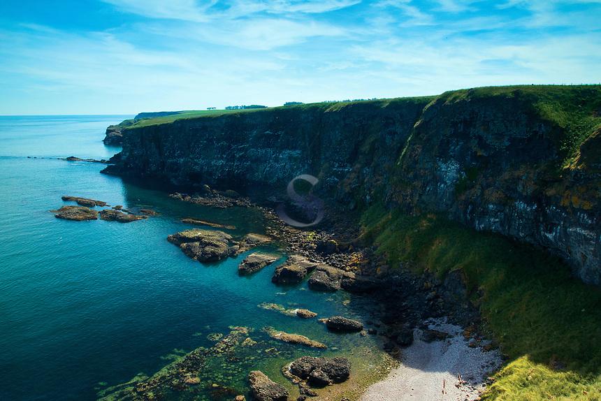 Cliffs along the Aberdeenshire Coast near Dunnottar Castle, Aberdeenshire, Scotland