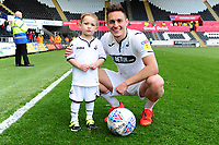 Connor Roberts of Swansea City at full time during the Sky Bet Championship match between Swansea City and Hull City at the Liberty Stadium in Swansea, Wales, UK. Saturday 27 April 2019