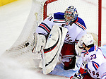 23 January 2010: New York Rangers' goaltender Matt Zaba makes a third period save against  the Montreal Canadiens at the Bell Centre in Montreal, Quebec, Canada. The Canadiens shut out the Rangers 6-0. Mandatory Credit: Ed Wolfstein Photo