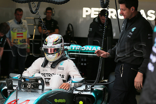 20.06.2015.  Red Bull Ring, Spielberg, Austria. F1 Grand Prix of Austria.   Mercedes AMG Petronas driver Lewis Hamilton prepares to get into his car before practice 3