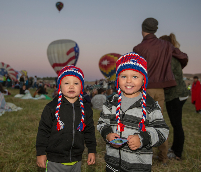 2-year old Dax and 5-year old Drake at the Great Reno Balloon Races held on Saturday, Sept. 10, 2016.
