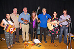 Some of the musicians who took part in the Songs & Music of the Iveragh Peninsula in Tech Amergin Waterville on Friday night hosted by Teacht Thar Sáile Folk Club in association with Heritage Iveragh were l-r; Rose Mullarkey, Denis O'Connor(Chairman Heritage Iveragh), Peter Mullarkey, Céiline Kavanagh, Ritchie MacCarthy, Selena O'Connell & Stephen McCarthy MC for the night.