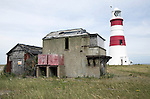 The National Trust manage the former secret weapons testing area on Orfordness, Suffolk, England