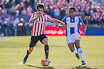 Atletic de Bilbao's Inigo Lekue, Club Deportivo Leganes's Darwin Machis  during the match of La Liga between Leganes and Athletic Club at Butarque Stadium  in Madrid , Spain. January  14, 2017. (ALTERPHOTOS/Rodrigo Jimenez)
