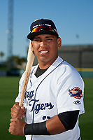 Lakeland Flying Tigers Isaac Paredes (3) poses for a photo before a game against the Tampa Tarpons on April 6, 2018 at Publix Field at Joker Marchant Stadium in Lakeland, Florida.  Lakeland defeated Tampa 6-5.  (Mike Janes/Four Seam Images)
