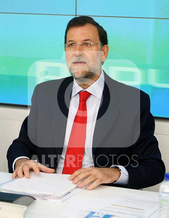 Mariano Rajoy durante el Comite Ejecutivo Nacional del PP..(ALTERPHOTOS/Acero).
