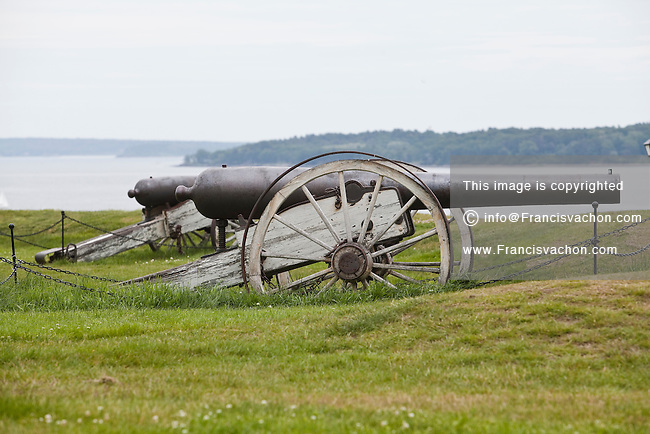 Two 4.5-inch siege rifles Model 1861 sit on Fort Allen Park ground in Portland, Maine, Sunday June 16, 2013. the 4.5 inch Siege Rifle was a large siege and garrison gun actively served in Union Artillery batteries during the American Civil War.