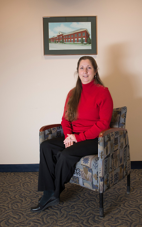 Employee of the Month, Carlotta Hensler, HR Records Specialist poses for a portrait in the Human Resources Training Center. Photo by Olivia Wallace