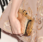 HOLLYWOOD, CA - SEPTEMBER 24: Anna Kendrick (handbag detail) the 'Pitch Perfect' - Los Angeles Premiere at ArcLight Hollywood on September 24, 2012 in Hollywood, California.