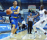 January 14, 2017:  San Jose State guard, Jalen James #21, during the NCAA basketball game between the San Jose State Spartans and the Air Force Academy Falcons, Clune Arena, U.S. Air Force Academy, Colorado Springs, Colorado.  San Jose State defeats Air Force 89-85.