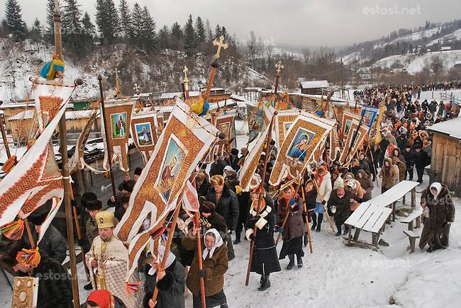 UKRAINE, 08.2006, Kosmach. Huzulen, Volk der Karpaten.   Hutsuls - People of the Carpathians..© Cyril Horiszny/EST&OST