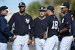 (2L-R) CC Sabathia, Masahiro Tanaka, Hiroki Kuroda, Ivan Nova (Yankees),<br /> FEBRUARY 15, 2014 - MLB :<br /> New York Yankees spring training camp in Tampa, Florida, United States. (Photo by AFLO)