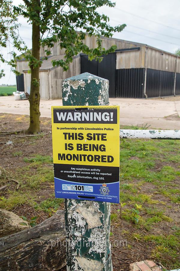 Farm security sign