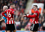 Oliver Norwood of Sheffield Utd and John Fleck of Sheffield Utd  during the Premier League match at Bramall Lane, Sheffield. Picture date: 7th March 2020. Picture credit should read: Simon Bellis/Sportimage