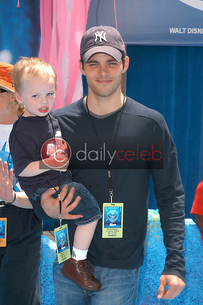 James Marsden and son