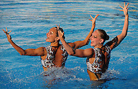 Roma 20th July 2009 - 13th Fina World Championships From 17th to 2nd August 2009..Rome (Italy) 20 07 2009..Synchronized swimming - Technical duet preliminaries..Team Russia......photo: Roma2009.com/InsideFoto/SeaSee.com