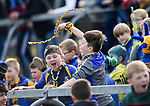 Young Sixmilebridge fans during the win over Clooney-Quin in the senior county final replay at Cusack park. Photograph by John Kelly.