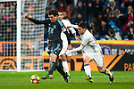 Real Sociedad's midfielder Mikel Oyarzabal and Real Madrid's midfielder Mateo Kovacic during the match of La Liga between Real Madrid and   Real Sociedad at Santiago Bernabeu Stadium in Madrid, Spain. January 29th 2017. (ALTERPHOTOS/Rodrigo Jimenez)