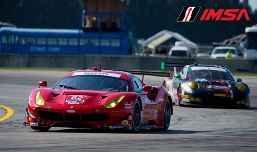 16-19 March, 2016, Sebring, Florida USA<br /> 62, Ferrari, F488 GTE, GTLM, Giancarlo Fisichella, Toni Vilander, Davide Rigon<br /> &copy;2016, Richard Dole<br /> LAT Photo USA