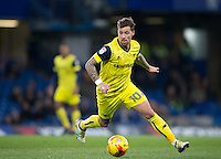 Chris Maguire of Oxford United during the The Checkatrade Trophy match between Chelsea U23 and Oxford United at Stamford Bridge, London, England on 8 November 2016. Photo by Andy Rowland.