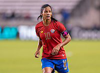 HOUSTON, TX - JANUARY 28: Shirley Cruz #10 of Costa Rica watches the ball during a game between Costa Rica and Panama at BBVA Stadium on January 28, 2020 in Houston, Texas.