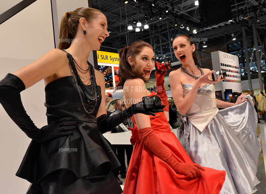 Wild Nikon Girls showing the New 1. As seen at The NYC PhotoExpo 2011