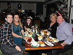 Jimy, Linda and Cailin Newman, Tommy and Rosemund Boylan enjoying the new year celebrations at the Westcourt hotel. Photo: Colin Bell/pressphotos.ie